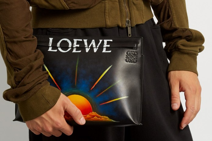 Check out Loewe's Hand-Painted Range of Leather Pouches