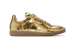 Maison Margiela's Replica Sneaker Receives a Lavish Gold Makeover