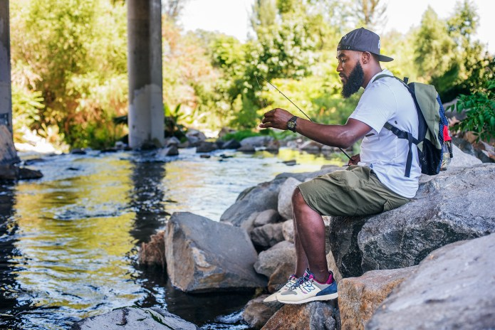 Marquise Henry Takes the New Balance Trailbuster on an Urban Fishing Trip