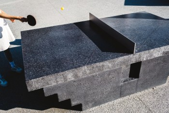 Play Ping Pong in Style on These Concrete Tables