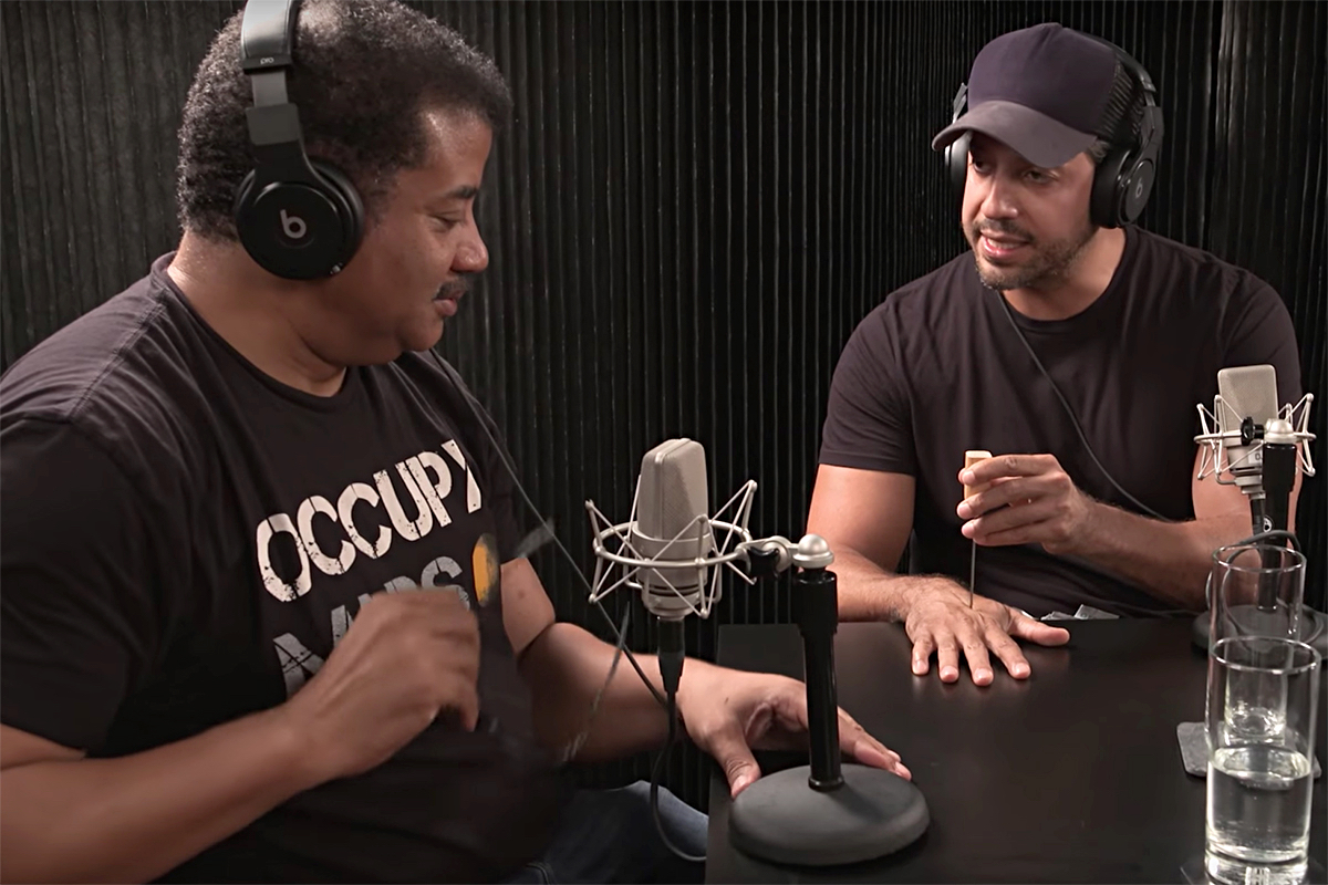 Watch Neil DeGrasse Tyson Pull an Ice Pick From David Blaine's Hand on OTHERtone