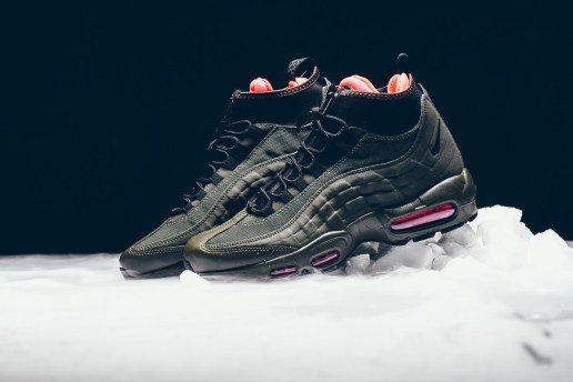 "A Closer Look at the Nike Air Max 95 Sneakerboot in ""Dark Loden"""