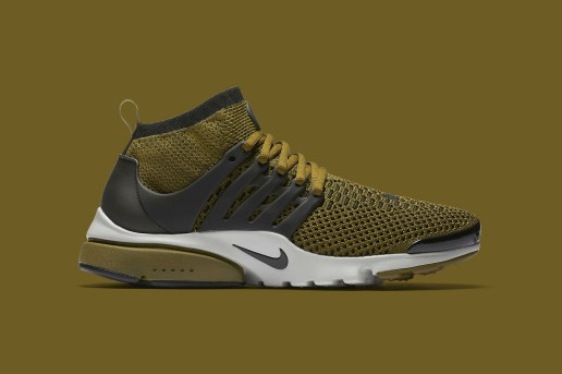 """Nike Covers Its Flyknit-Constructed Presto in """"Olive Flak"""""""