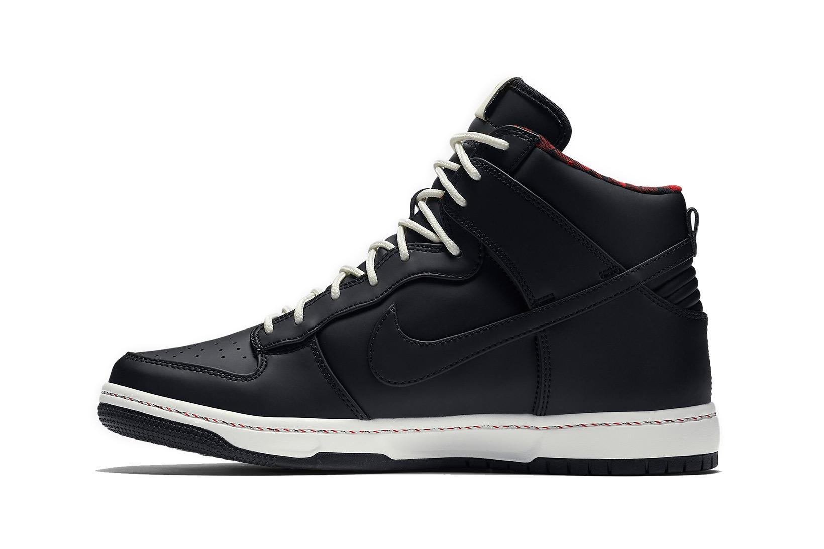 Nike Dunk High CMFT - Black - University Red - SneakerNews.com
