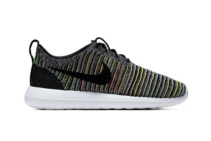 "Nike's Roshe Two Flyknit Welcomes the Swoosh's Popular ""Multicolor"" Option"