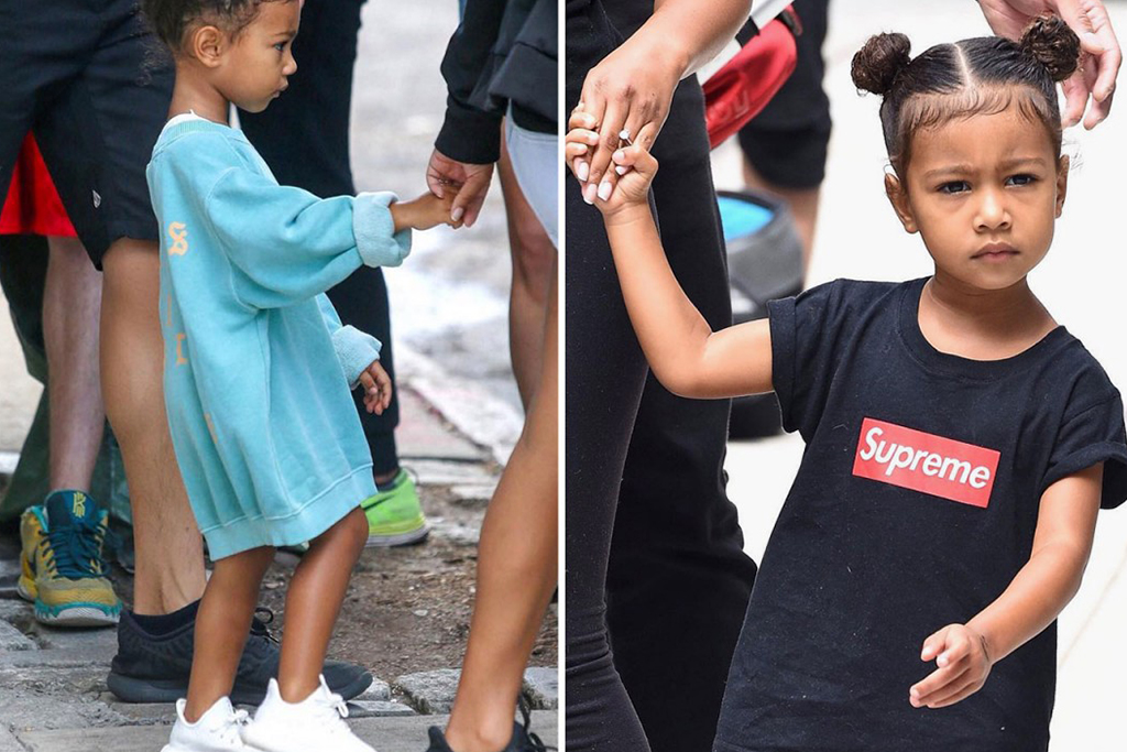 North West Hits the Streets in Unreleased Yeezy Boosts and Supreme Gear