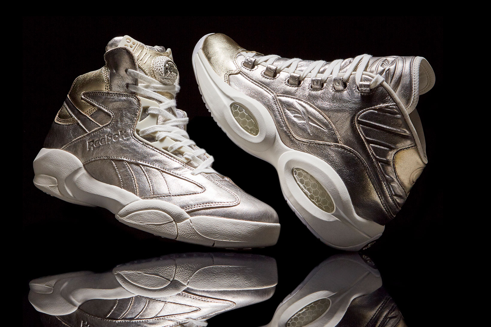 "Reebok Classics Gives the Limited Edition ""16 Hoop Hall"" Pack a Sleek Metallic Treatment"