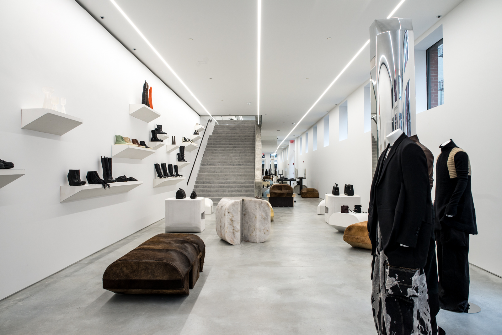 Your Look Inside the New Rick Owens Flagship Store in SoHo, NYC