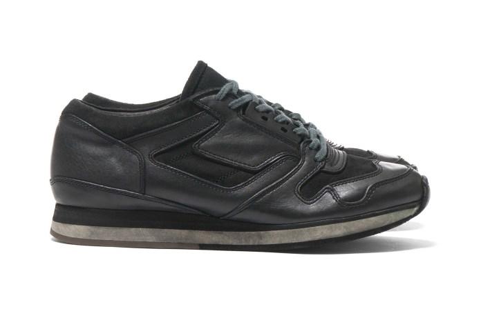 sacai x Hender Scheme Overdyed Sneaker in Black and Khaki