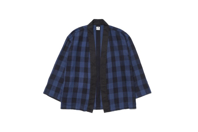 SASQUATCHfabrix. Reimagines the Haori With Checkered Sashiko Construction