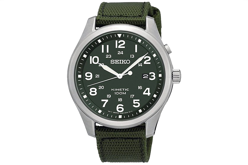Seiko Upgrades the Kinetic Military Watch
