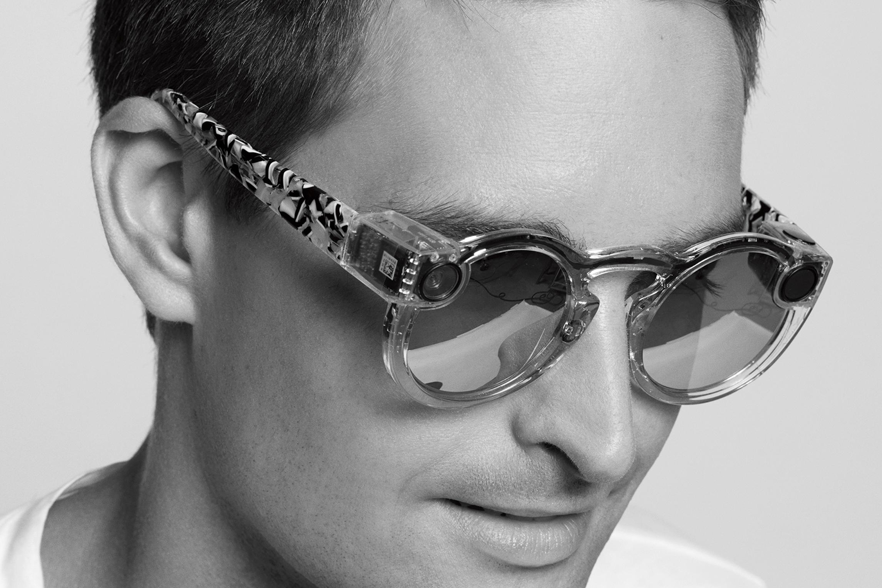 Snapchat 10 Second Video Glasses grey spectacles
