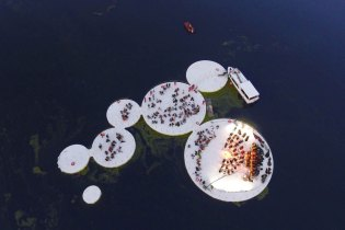 Space Caviar's Mantova Installation Provides a Floating Cultural Venue for the City