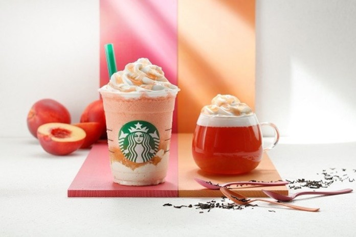 Starbucks Japan Introduces Two Nectarine Peach Drinks
