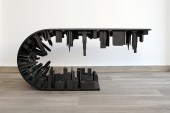 """Stelios Mousarris Bends Reality With All-Black Matte """"Wave City"""" Table"""