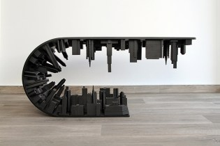 "Stelios Mousarris Bends Reality With All-Black Matte ""Wave City"" Table"