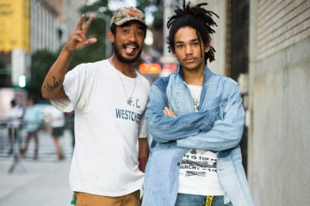 """Streetsnaps: Heron Preston's """"UNIFORM"""" Collection Unveil at NYC's Spring Street Salt Shed"""