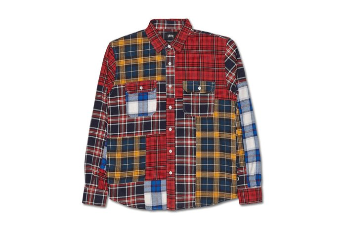 Stüssy's Mixed Plaid Shirt Is a Wild Piece of Patchwork