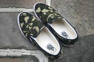 "Takashi Murakami Designs Custom LV ""Monogramouflage"" Vans Slip-Ons"