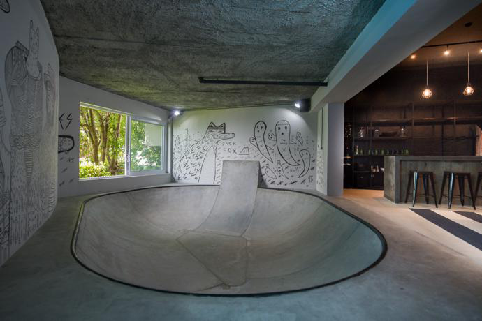 Teen S Basement Is The Ultimate Man Cave For Skateboarders