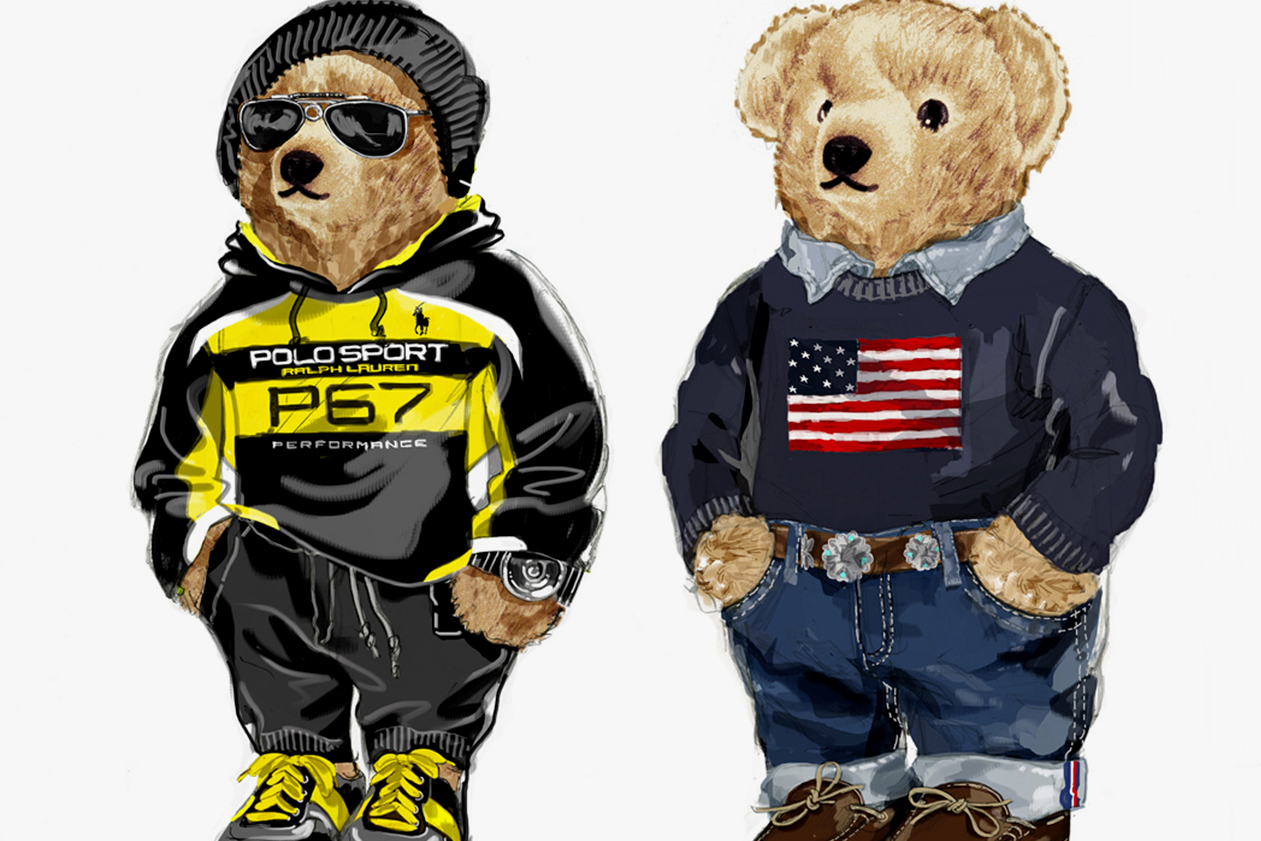 Streetwear's Most Iconic Mascots bear, kanye west, ralph lauren, bearbrick, baby milo bathing ape cartoon characters