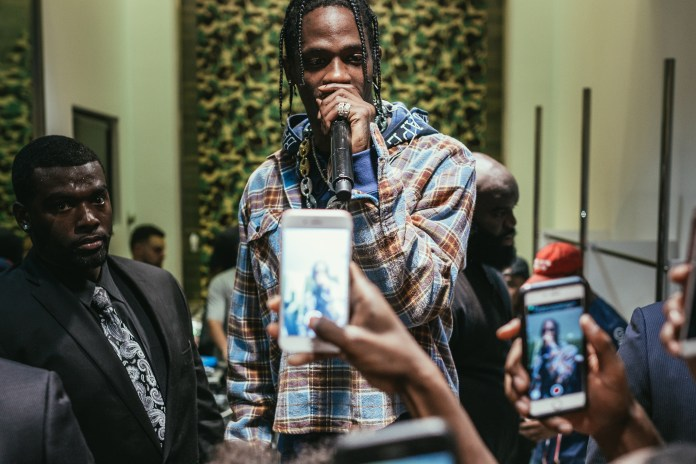 Travis Scott Shocks Fans With Surprise Performance at BAPE NYC