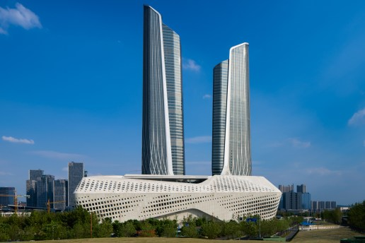 A First Look at Zaha Hadid's Nanjing International Youth Culture Center in China