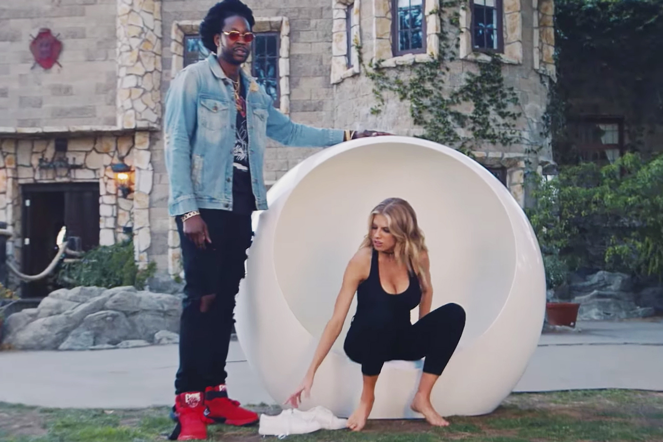 2 Chainz Gets Model Charlotte McKinney to Center Her Chi Inside the 'Most Expensivest' Meditation Pod