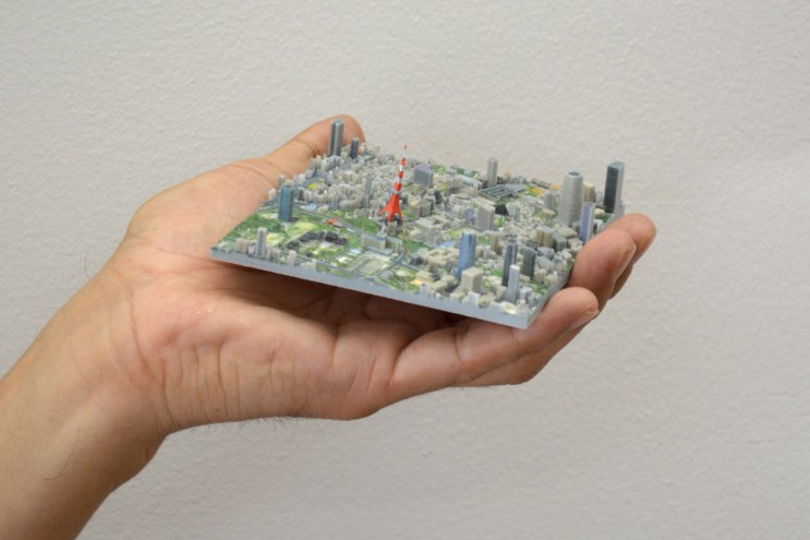 A 3D-Printed Map of Tokyo in 100 Pieces