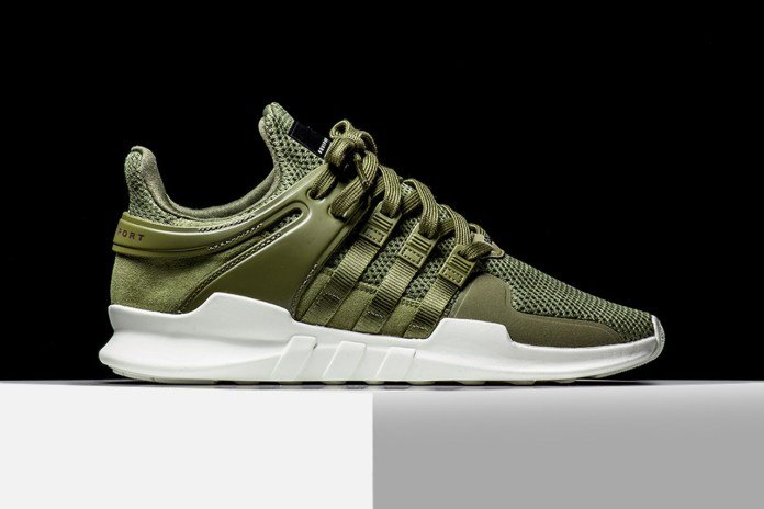 """The adidas EQT Support ADV """"Olive"""" Makes Its Stateside Debut"""
