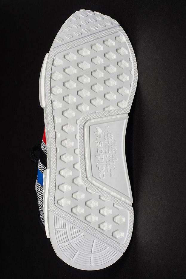 adidas nmd r1 primeknit tricolor white