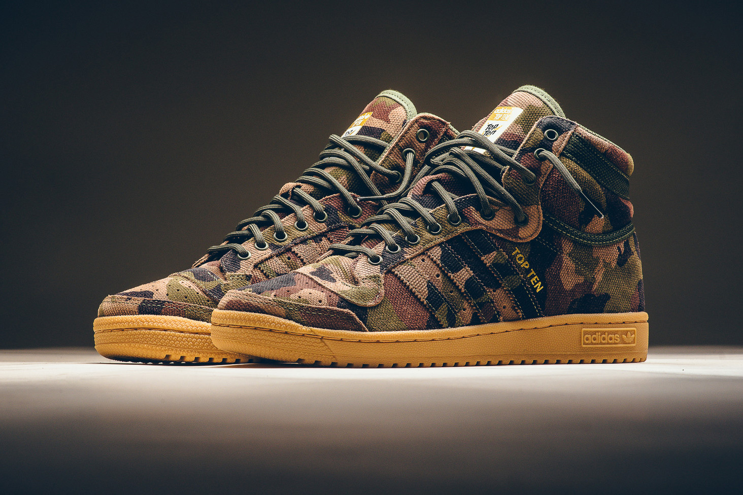 adidas Rolls out a Camouflage Top Ten Hi