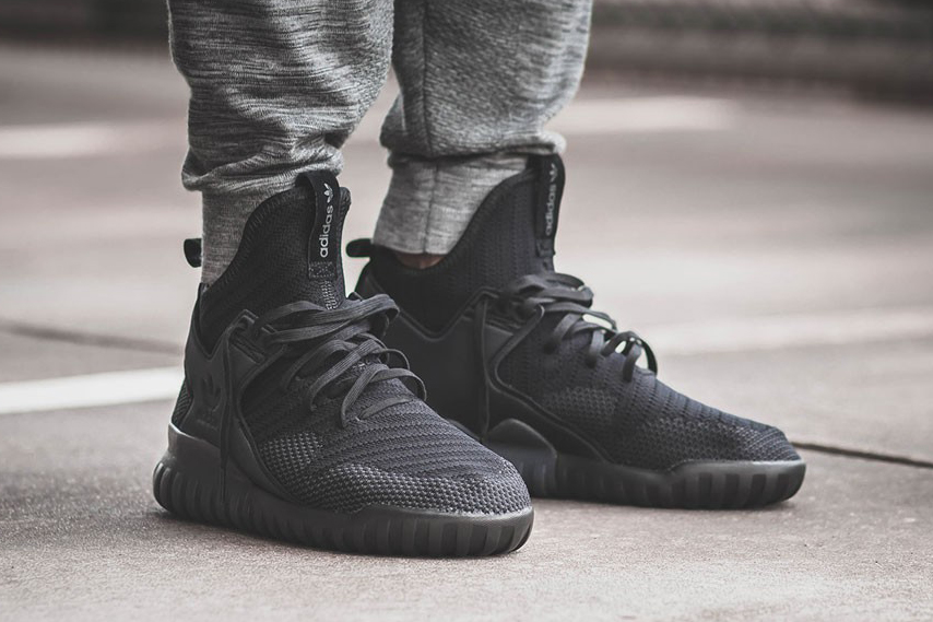 """The Adidas Tubular X Primeknit Are Passed to The """"All Black"""""""