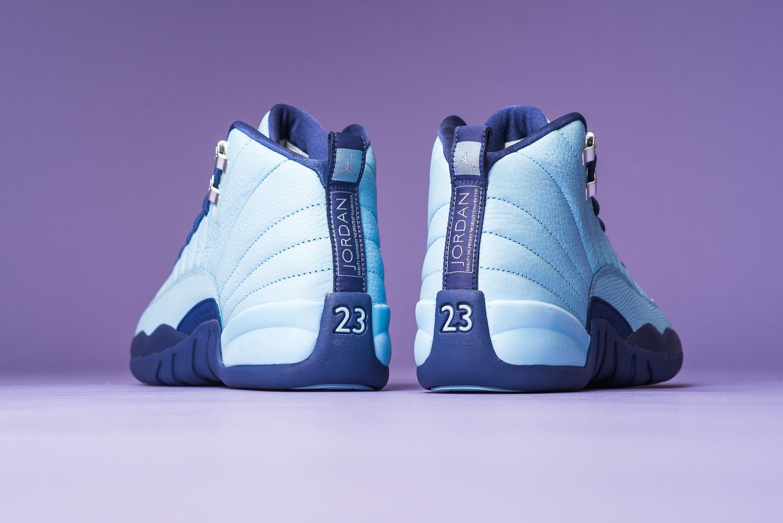 Air Jordan 12 Metallic Silver Dark Purple Sneaker - 1761933