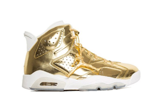 "The Air Jordan 6 Receives a Metallic Gold Treatment for Its ""Pinnacle"" Edition"
