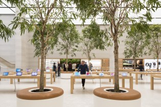Apple's New Regent Street Location Uses Indoor Trees to Complement Its Ultra Modern Atmosphere