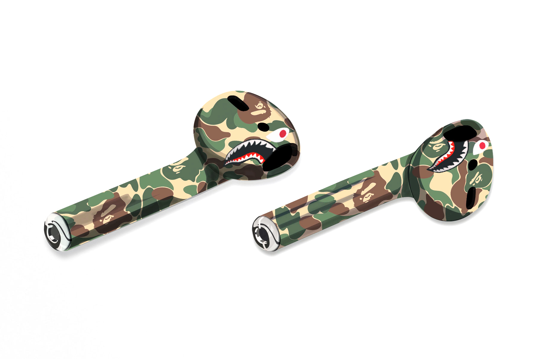 Apple Wireless AirPods Get the Streetwear Makeover Concepts BAPE A Bathing Ape OFF-WHITE Palace Skateboards Billionaire Boys Club Supreme headphones - 1764045