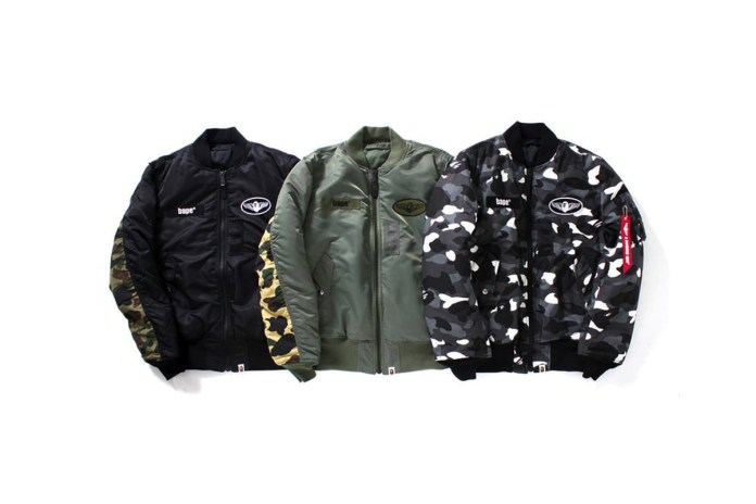 BAPE & Alpha Industries Are Dropping a Trio of Camo Bombers This Weekend
