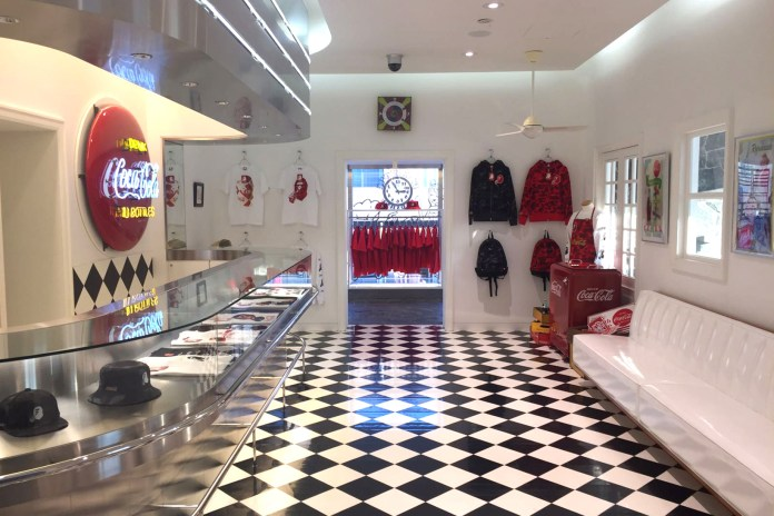 Take a Look Inside the BAPE x Coca-Cola Pop-Up Shop