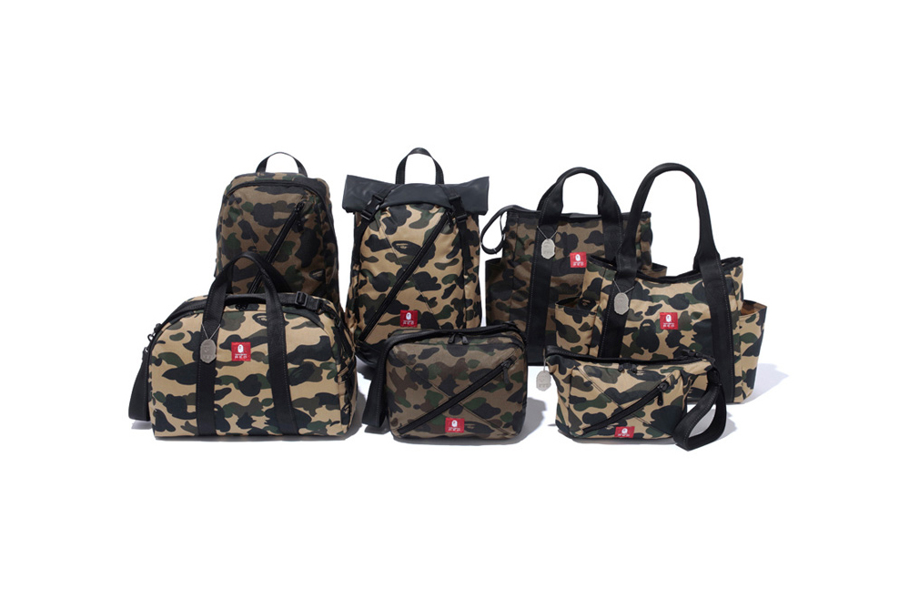 BAPE & Samsonite's RED Line Introduce a Camo-Covered Travel Collection