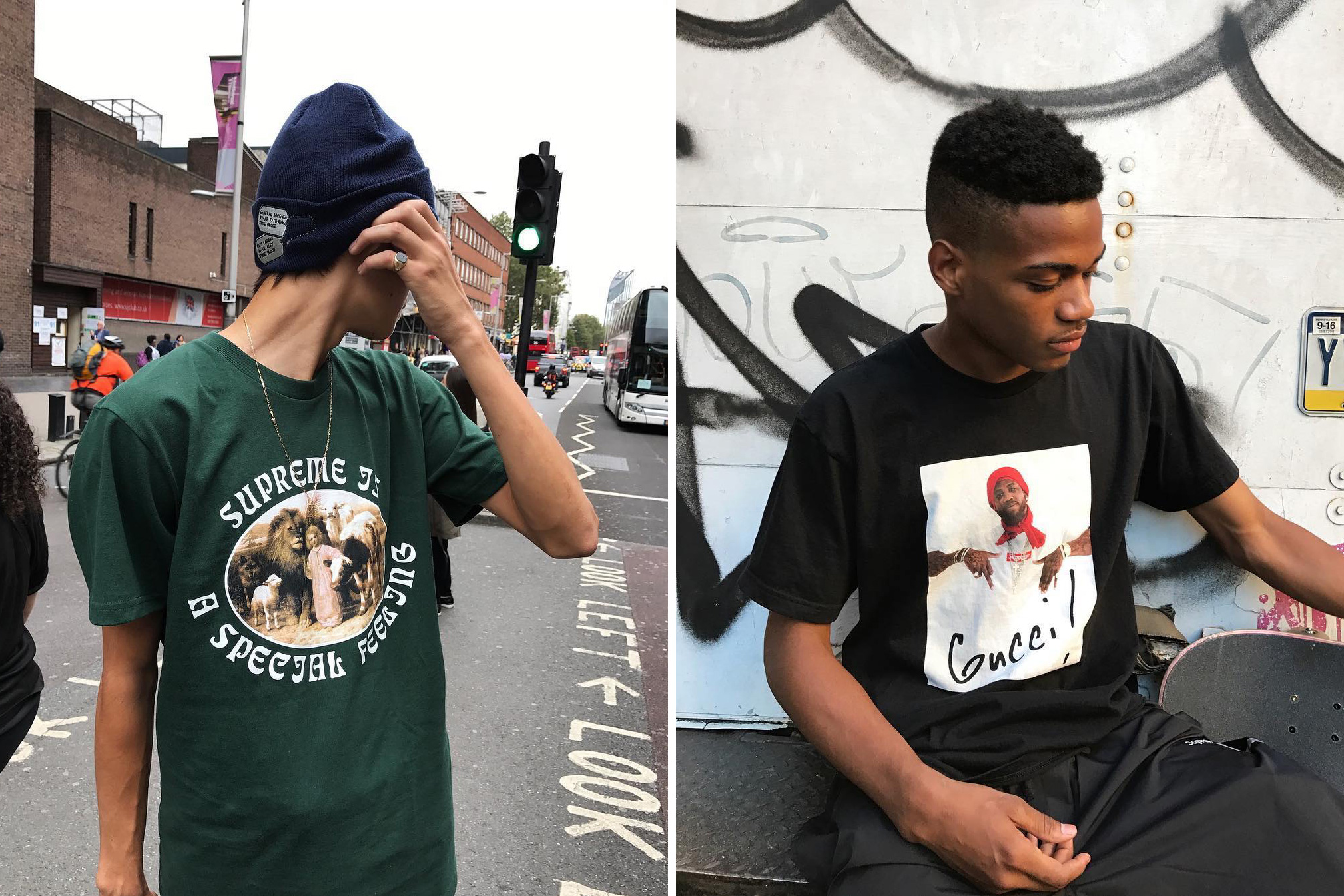Supreme Collaborates With Blade and Gucci Mane for Its 2016 Fall T-Shirt Collection