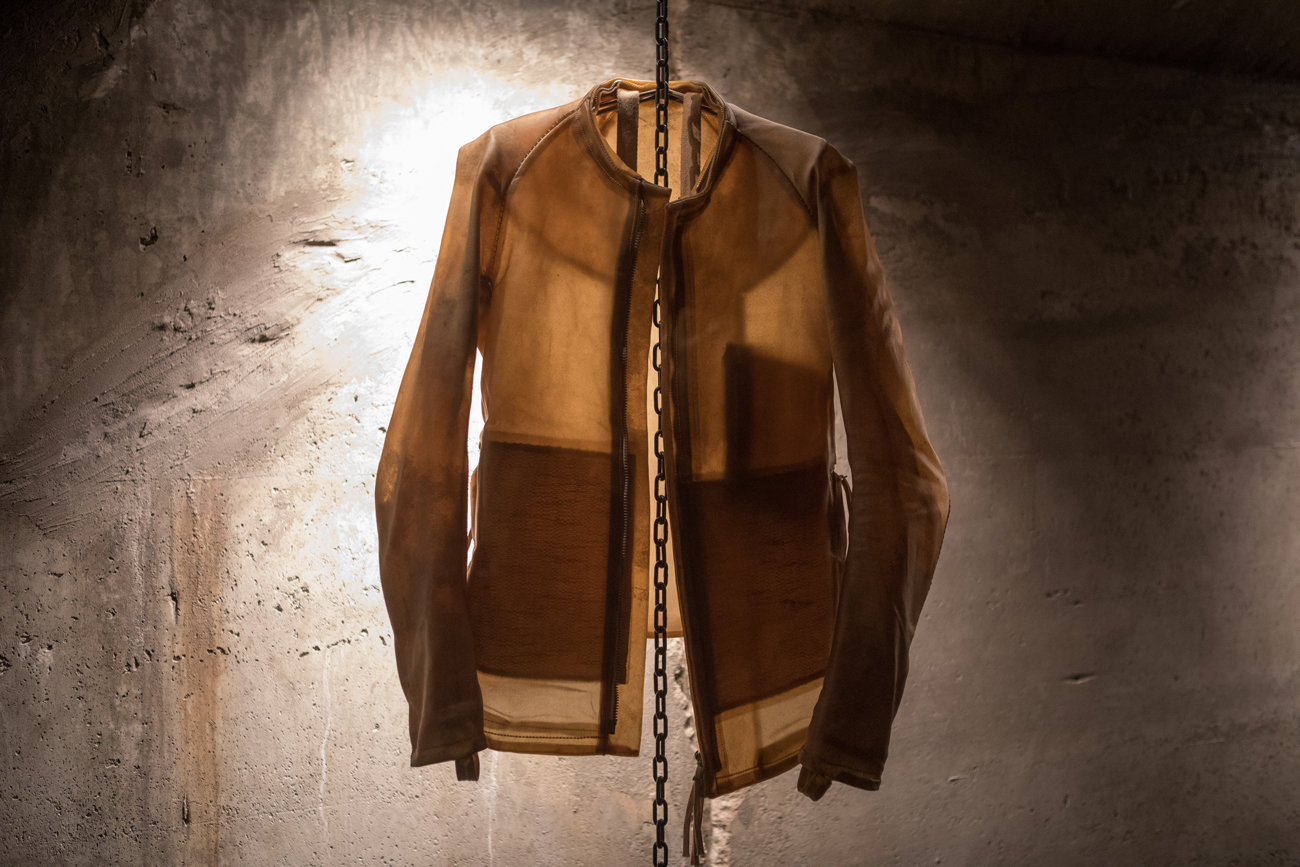 Boris Bidjan Saberi's Project 3,14 Installation Featured the Designer's Transparent Leather Jackets