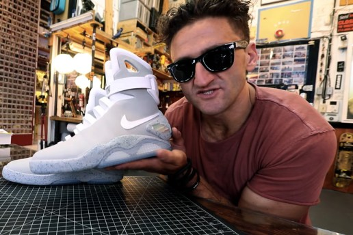 Casey Neistat Can't Contain His Excitement for the Self-Lacing Nike MAG