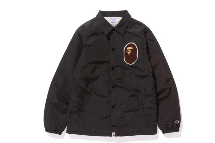 Check out the Full Champion x BAPE Collaboration