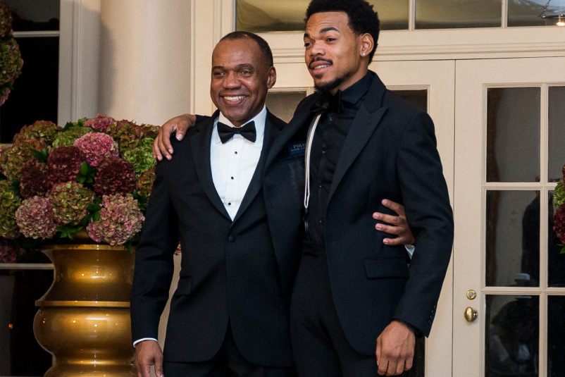 Chance the Rapper and Frank Ocean Pull up to The White House With Their Parents