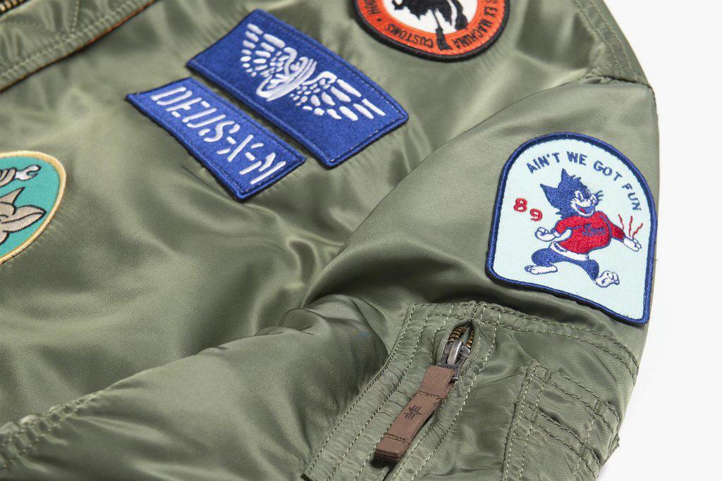 Deus Ex Machina Alpha Industries MA 1 Jacket badges olive green - 1766598