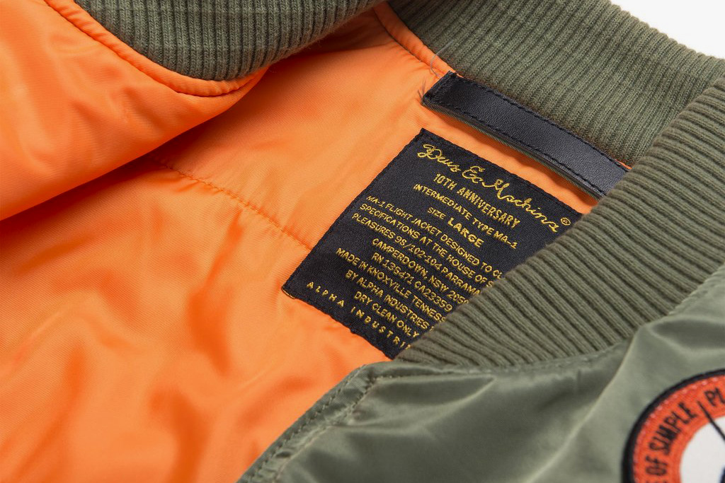 Deus Ex Machina Alpha Industries MA 1 Jacket badges olive green - 1766597