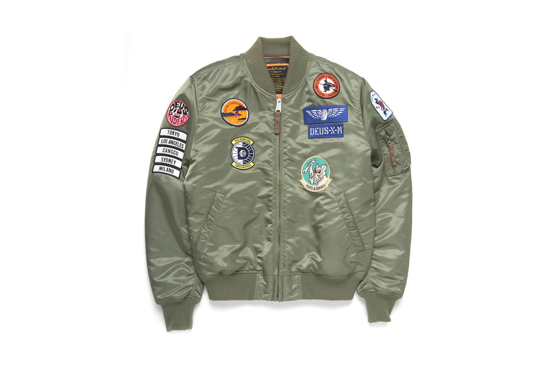 Deus Ex Machina Alpha Industries MA 1 Jacket badges olive green - 1766595
