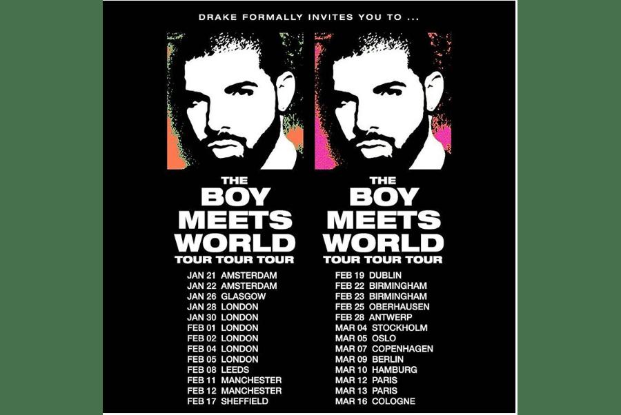 Drake Announces 'The Boy Meets World' European Tour