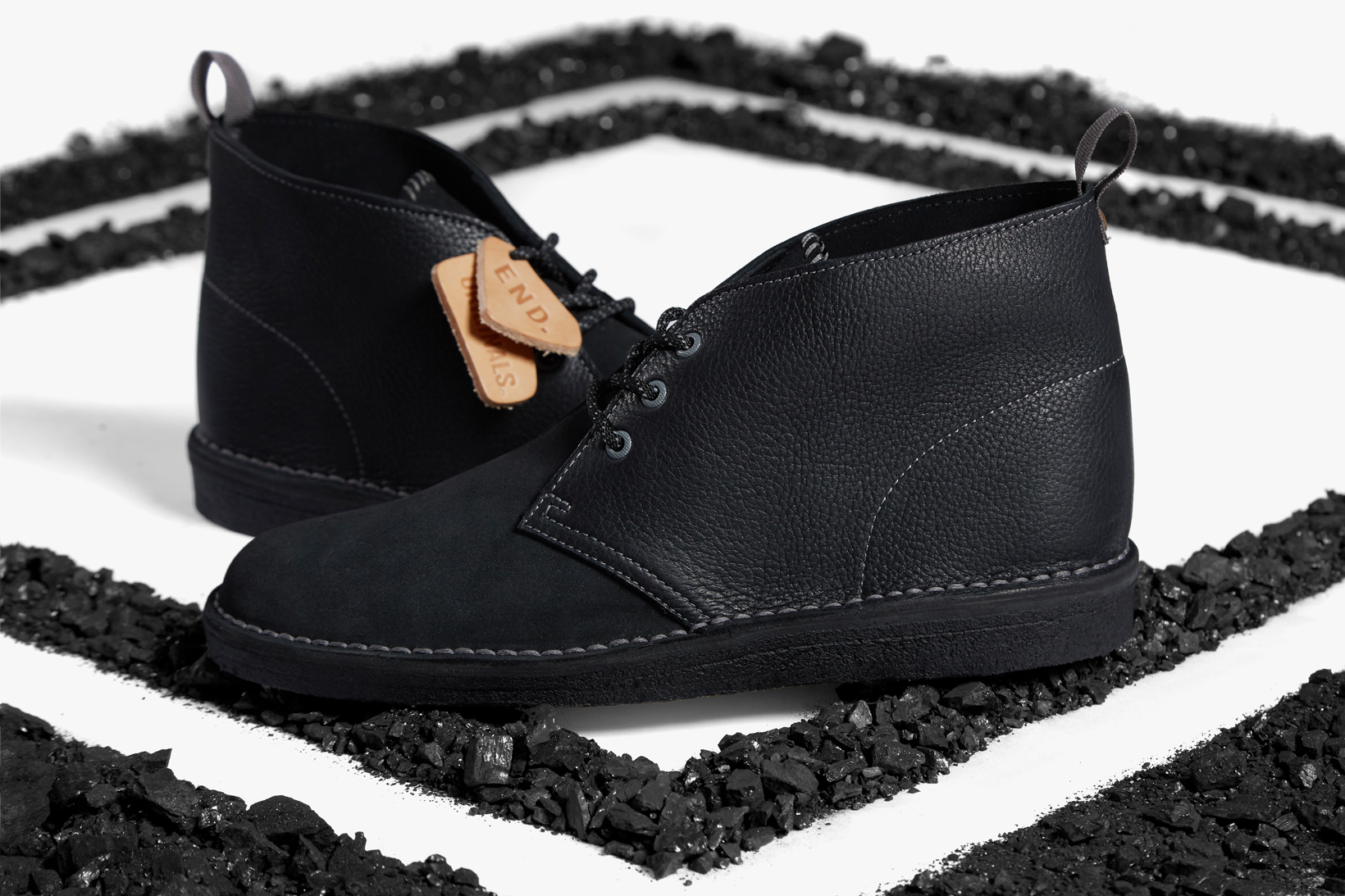 "END. Teams up With Clarks for Limited Edition ""Black Diamond"" Desert Boot"